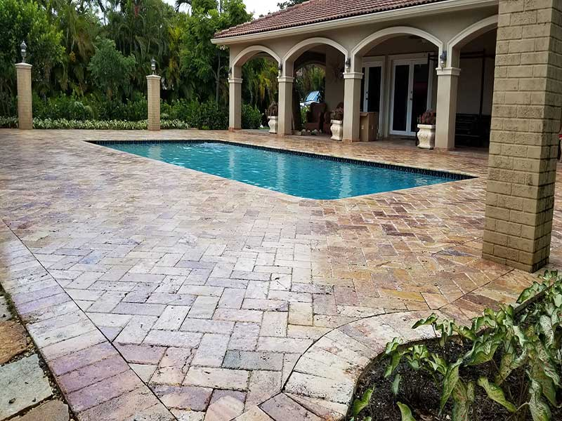 A Clean Driveway u0026 Patio Can Welcome Guests & Paver Sealing Miami-Dade offers roof soft washing pressure cleaning ...